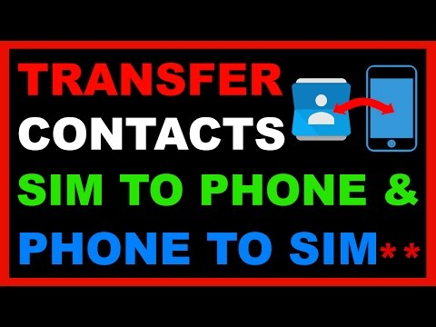 How to Copy /Transfer Contacts From SIM Card to Phone & Phone to SIM  Card
