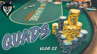 ALL IN with QUADS at LAKE ELSINORE CASINO!! | Poker Vlog #22