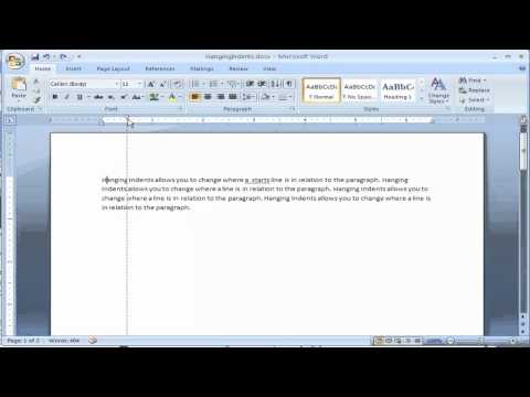 Create Hanging Indents in Microsoft Word