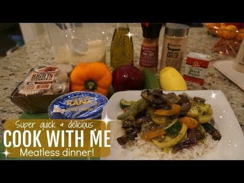 COOK WITH ME 2017// QUICK &EASY// MEATLESS MEAL