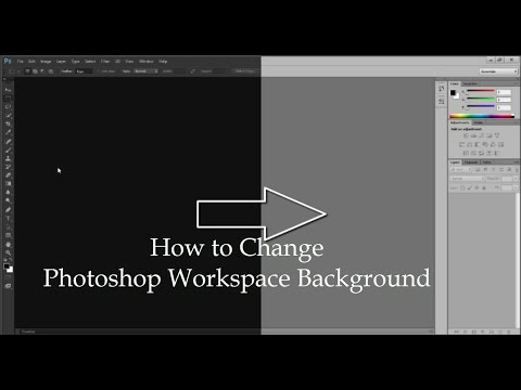 How to change Workspace color in Photoshop CS6