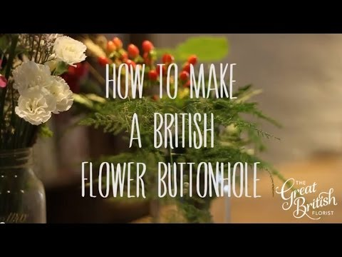 How to make a British Flower Buttonhole