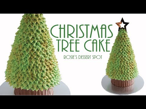 Easy Christmas Tree Cake- Tutorial  Rosie's Dessert Spot