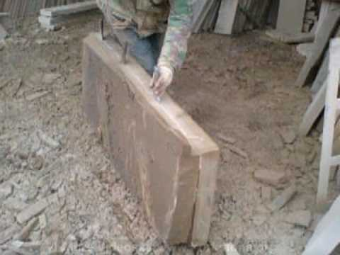 Hand Splitting Natural Stone Slabs