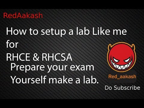 (HINDI)REDHAT : How to setup a lab Like me for RHCE & RHCSA