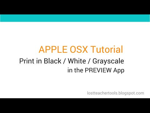Mac Apple OSX Tutorial: Print in Black / White / Grayscale in the Preview App