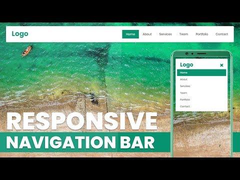 Responsive Navigation Bar   Html CSS and jQuery