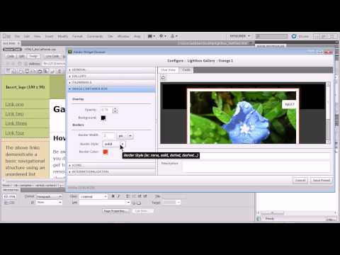 Simple way to add an image gallery (lightbox) in Dreamweaver