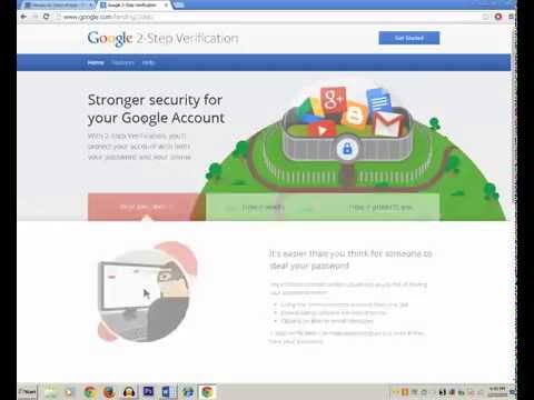 How to enable and disable gmail/google 2 step verification - Part 1
