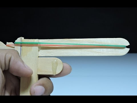 How to make a Rubber Band Gun - Pocket Pistol