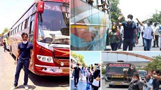 Sonu Sood ARRANGES 10 buses for MIGRANT workers STUCK in Mumbai