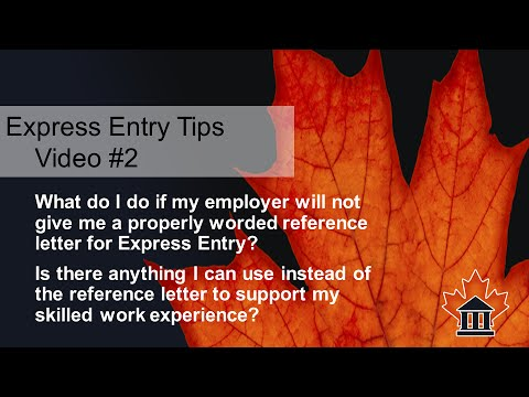Express Entry Tips #2 - No Reference Letters