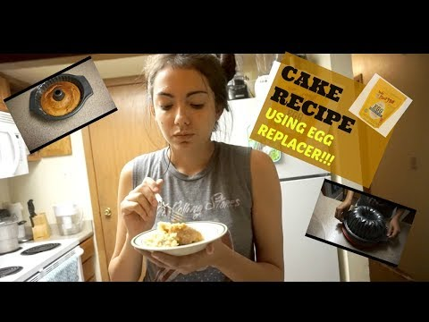 COOK WITH ME 2017! EASY CAKE RECIPE USING EGG REPLACER
