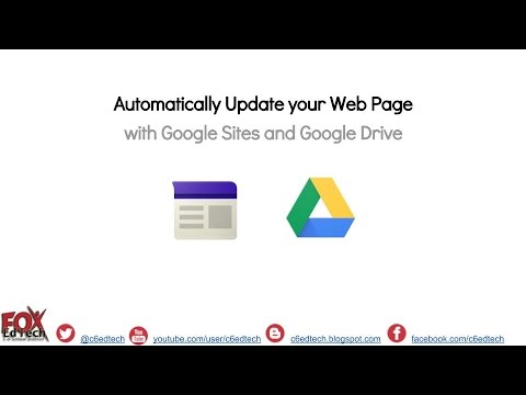 Create an Automaticlly Updating Webpage with the Power of Google!