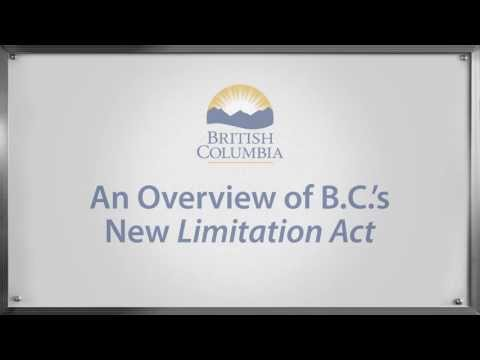 An Overview of B.C.'s New Limitation Act