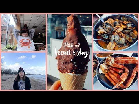 WHAT I EAT IN A DAY #2 | Cajun Seafood +Thai Fried Rice  + Gelato dipped in chocolate