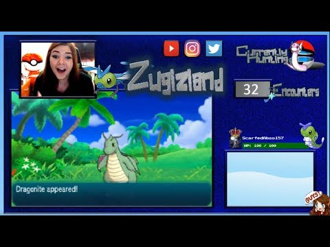 SHINY DRAGONITE REACTION! After only 33 SOS calls! Rare encounter! Pokemon Moon!