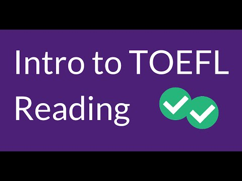 Introduction to the TOEFL Reading Section