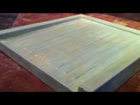 Concrete Drainboard from the Journey Drain Board Mold