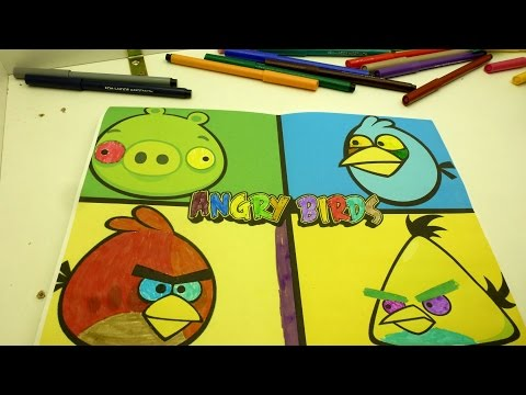 Angry Birds Red, Chuck, Jay, Minion Pigs Coloring Pages