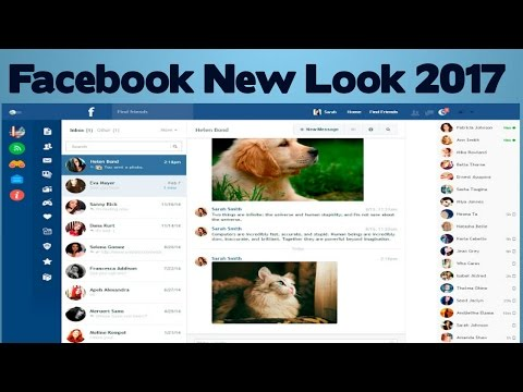 New look facebook 2017