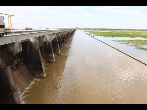 Bonnet Carre Spillway. About to be opened again. The Mississippi river is rising