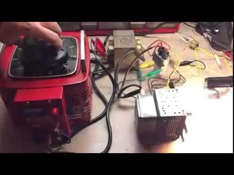 Microwave RF transmission to CFL light