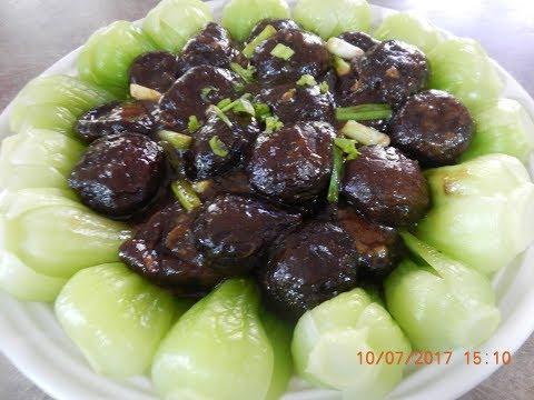 Black Mushrooms with Baby Botchoy Recipe DELICIOUS!