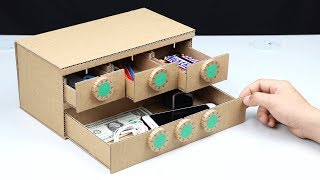 How to Make Safe Lock BOX with 6 Digit from Cardboard