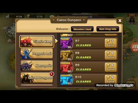 Summoners war auto dragon b7 farmable team