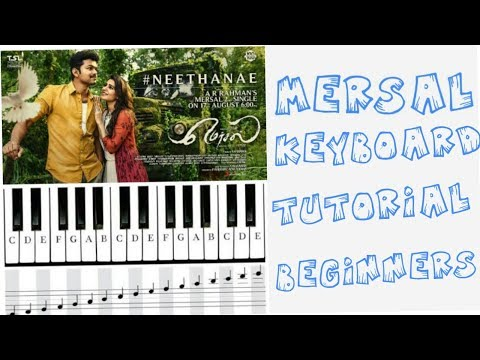 keyboard tutorials for beginners in tamil mersal neethane song