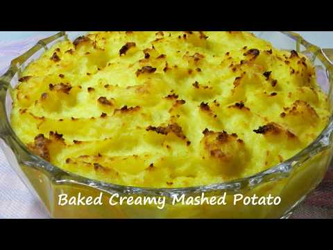 Baked Creamy Mashed Potato Recipe - Side Dish