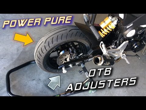 Best Upgrades for the WORST Parts of the Honda Grom | Tires & Adjusters Install
