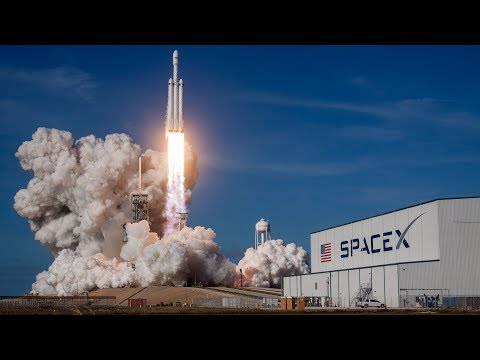 SpaceX Falcon Heavy Rocket Launch 10/02/2018
