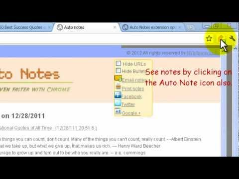 Browse faster in Google Chrome(short) with Auto Notes