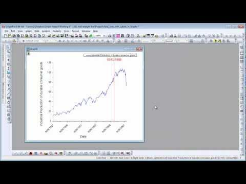 Graphing: Origin 9: Add Lines with Labels in Graphs