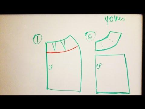 How to Draft a Skirt Yoke Pattern