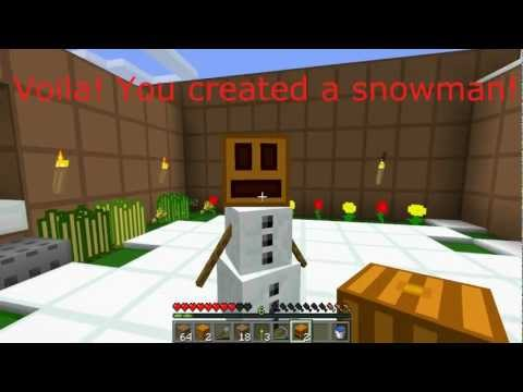 How to Make a Snowman in Minecraft