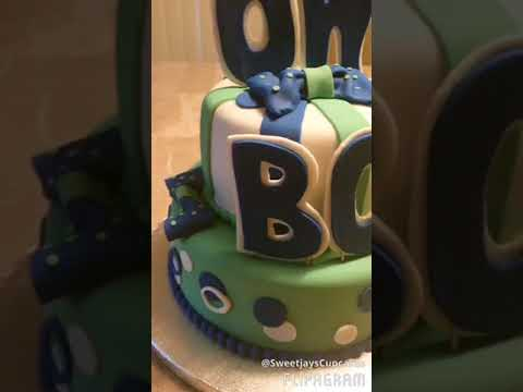 Oh Boy Baby Shower Cake