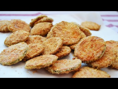 Baked Zucchini Chips with Parmesan Cheese - Easy Zucchini Appetizer Recipe