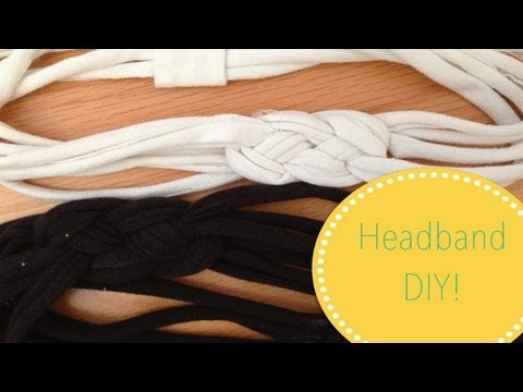 ✄ DIY T-Shirt Headband ✄  (no sew!)
