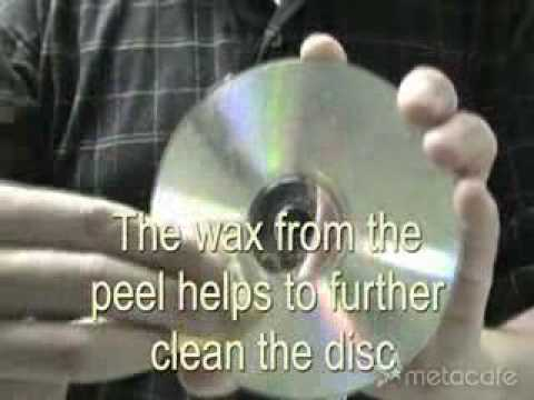 Learn how to remove scratches from CDs and DVDs with a banana and a glass cleaner