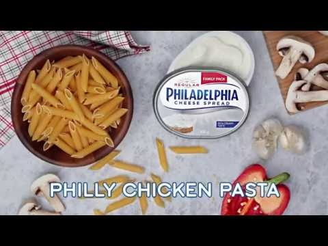 PHILLY CHICKEN PASTA WITH PINK SAUCE