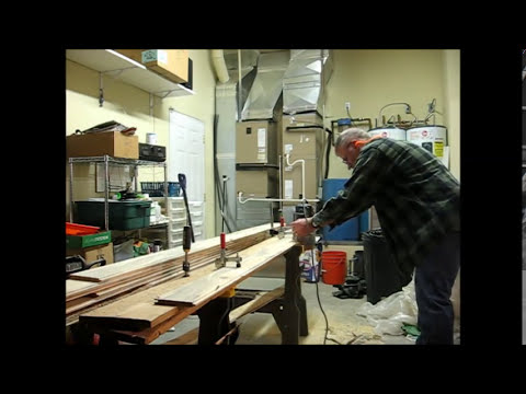 Making Tongue and Groove Pine Paneling