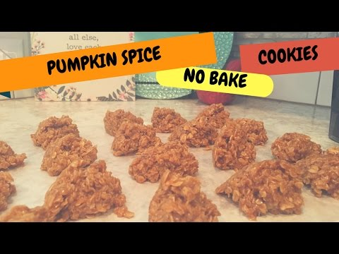 🎃 Pumpkin Spice No Bake Oatmeal Cookies