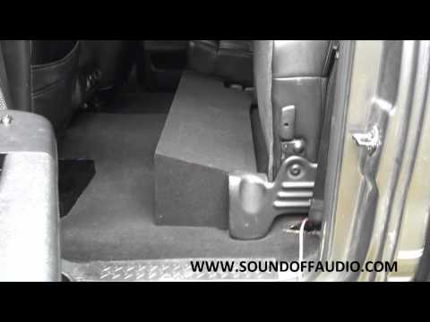 2004-2008 FORD F150 SUPER CREW OR SUPERCAB DUAL SUBWOOFER BOX