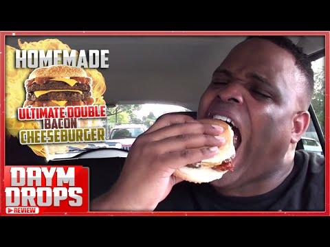 Gangstalicious Double BACON Cheeseburger Devoured