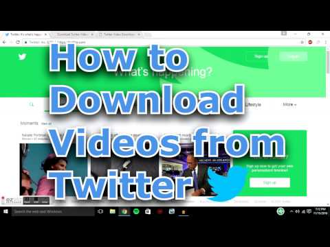 How to Download Twitter Videos for FREE 2017 NO SOFTWARE