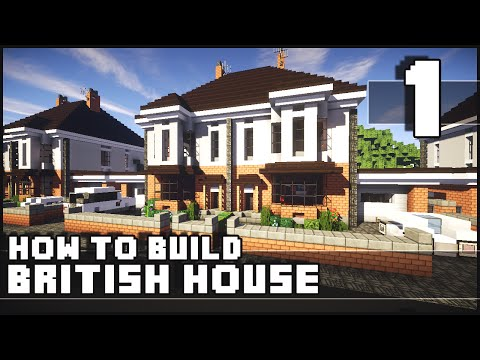Minecraft - How to Build : British House - Part 1