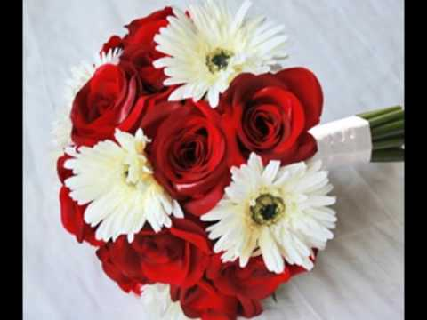 Red Rose and Gerber Daisy Wedding Bouquet